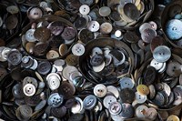 Pile Of Old Buttons Fine Art Print