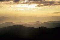 Sunset Mountains Along Blue Ridge Parkway, North Carolina Fine Art Print