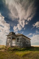 Abandoned Township Hall On The North Dakota Prairie Fine Art Print