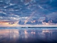 Sunset From North Jetty Beach, Oregon Fine Art Print