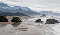 Rocky Cannon Beach Panorama, Oregon Fine Art Print