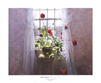"""Red Geraniums by Peter Poskas - 24"""" x 20"""""""