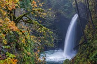 Autumn At Metlako Falls On Eagle Creek, Oregon Fine Art Print