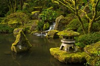Portland Japanese Garden Pond, Oregon Fine Art Print
