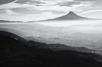 Smoke In The Hood River Valley, Oregon (BW) Fine Art Print