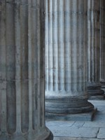 Columns Of The Merchants Exchange Building, Pennsylvania Fine Art Print