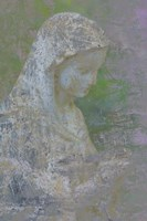 Pastel Abstract Statue Of The Madonna Fine Art Print
