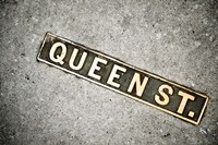 Queen St Sign, Charleston, South Carolina Fine Art Print