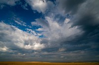 Massive Summer Cloud Formations Over Wheat Fields Fine Art Print