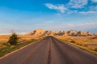 Road Through The Badlands National Park, South Dakota Fine Art Print