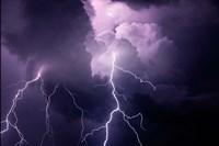 Composite Of Cloud-To-Cloud Lightning Bolts Fine Art Print