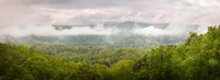 Misty Morning Panorama Of The Greak Smoky Mountains National Park Fine Art Print