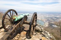 Cannon Perched On Lookout Mountain, Tennessee Fine Art Print