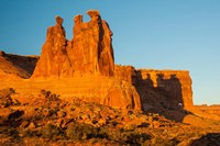 The Three Gossips Formation At Sunrise, Arches National Park Fine Art Print