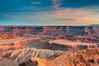 Sunset At Deadhorse Point State Park Fine Art Print