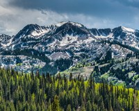 Snow Covered Mountain From Guardsman's Pass Road Fine Art Print