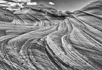 Second Wave Zion National Park Kanab, Utah (BW) Fine Art Print