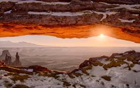 Sunrise At Mesa Arch, Canyonlands National Park, Utah Fine Art Print