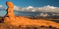 Sunset On A Balanced Rock Monolith, Arches National Park Fine Art Print