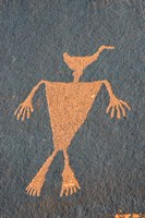 Detail Of A Duck Headed Man Petroglyph, Utah Fine Art Print
