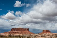 Mesas And Thunderclouds Over The Colorado Plateau, Utah Fine Art Print