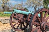 Cannon On Battlefield, Yorktown, Virginia Fine Art Print