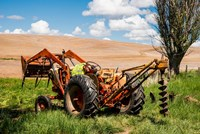 Tractor Used For Fence Building, Washington Fine Art Print