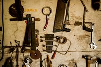 Collection Of Farm Tools Fine Art Print