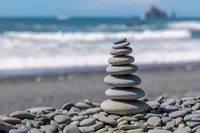 Stacked Beach Rocks, Washington State Fine Art Print