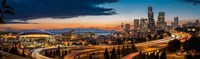 Sweeping Sunset View Over Downtown Seattle Fine Art Print