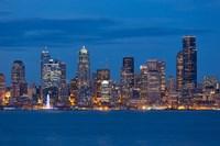 Seattle Skyline View Over Elliott Bay Fine Art Print