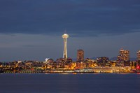 Seattle Skyline At Dusk Fine Art Print