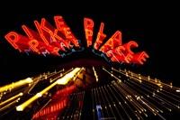 Pike Place Market At Night, Washington State Fine Art Print