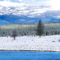 Yellowstone National Park In Winter, Wyoming Fine Art Print