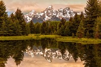 Schwabacher Landing At Sunrise, Wyoming Fine Art Print
