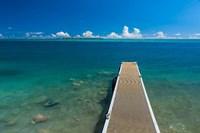 Pier With Cooks Island, Guam Fine Art Print
