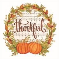 Thankful Wreath Fine Art Print