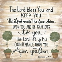 The Lord Bless You Fine Art Print
