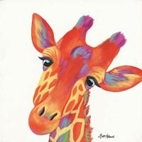 Cheery Giraffe Fine Art Print