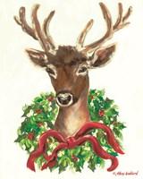 Christmas Buck Fine Art Print