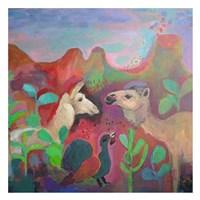The Camel and the Llama Fine Art Print