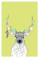 Elk & Feathers Fine Art Print