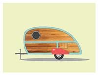Teardrop Camper Fine Art Print