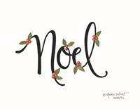 Noel with Berries Fine Art Print