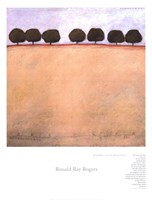 """Grandpa's Seven Peach Trees by Ronald Ray Rogers - 20"""" x 26"""""""