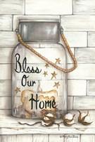 Glass Luminary Bless Our Home Fine Art Print