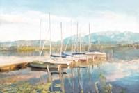 Blue Sky Fishing Day Fine Art Print