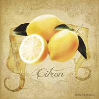 Vintage Lemons Citron Fine Art Print