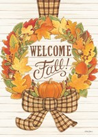 Welcome Fall Wreath Fine Art Print
