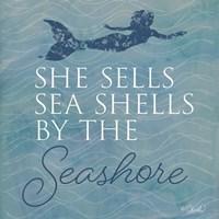 She Sells Seashells Fine Art Print
